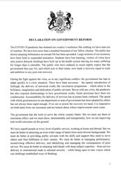 Declaration on Government Reform